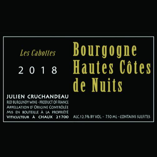 Domaine Julien Cruchandeau BOURGOGNE HAUTES-CÔTES DE NUITS 2018 Les Cabottes
