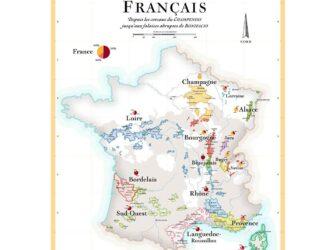 carte vignoble francais