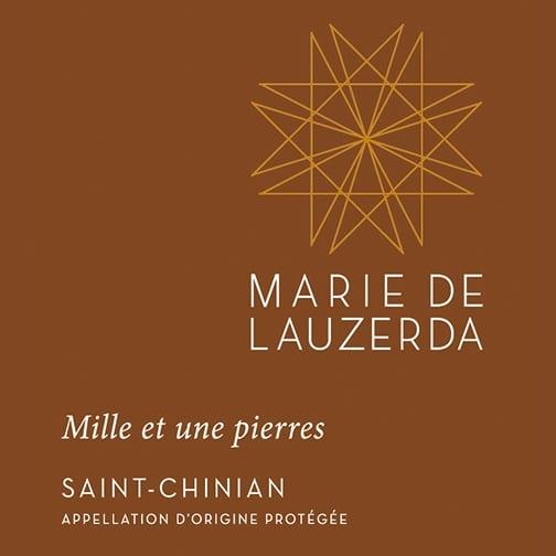 Marie de Lauzerda SAINT-CHINIAN 2018 Mille et une pierres