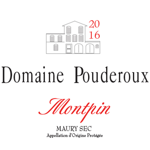 Domaine Pouderoux MAURY SEC 2016 Montpin